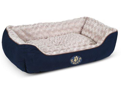 Scruffs - Größe: Wilton Box Dog Bed Blau x Größe: - Large aa30bf