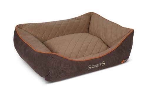 Scruffs - Thermal Box Dog Bed Braun x Größe: Large