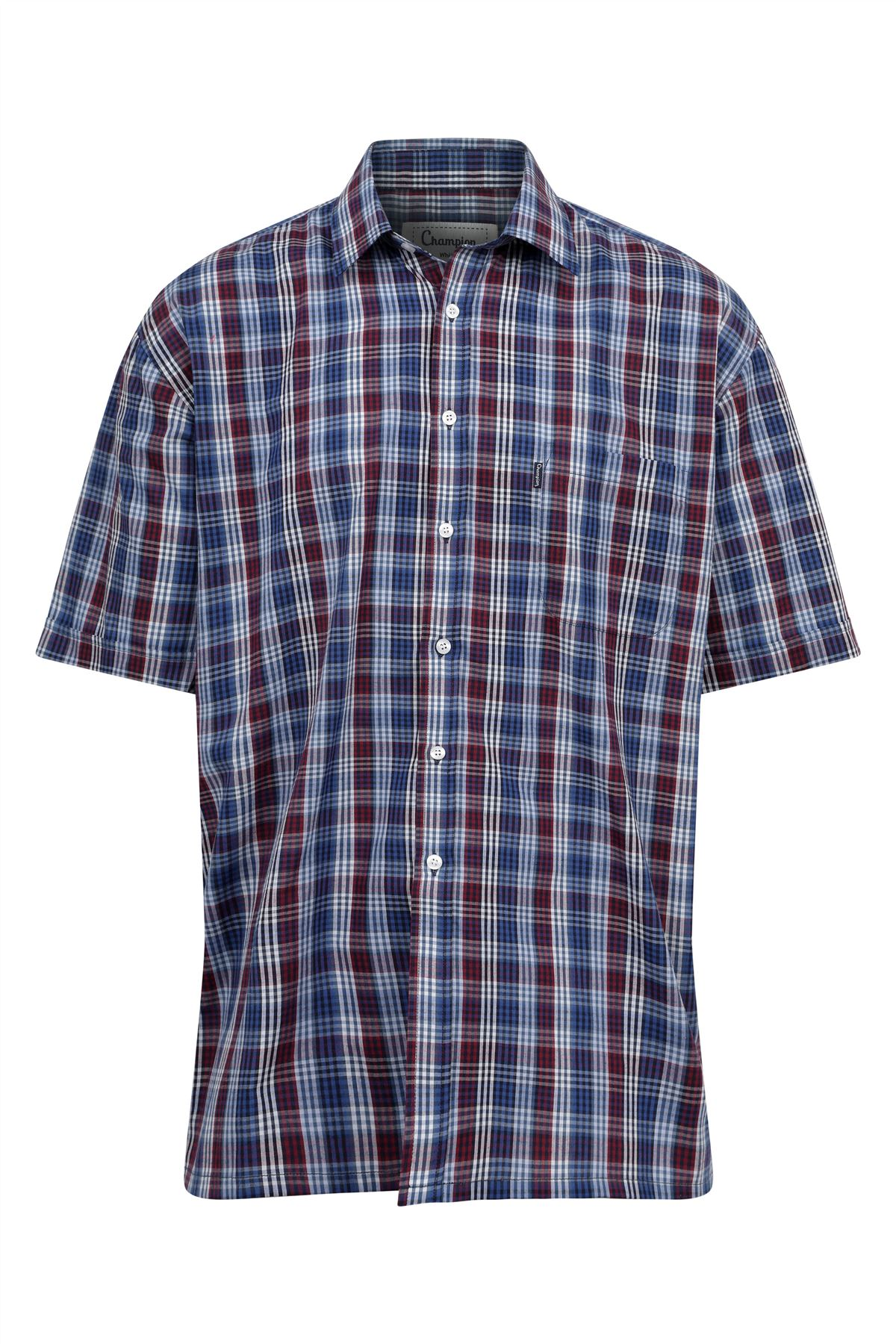 Champion-Mens-Shirt-Check-Short-Sleeve-Polycotton-Country-Casual thumbnail 9
