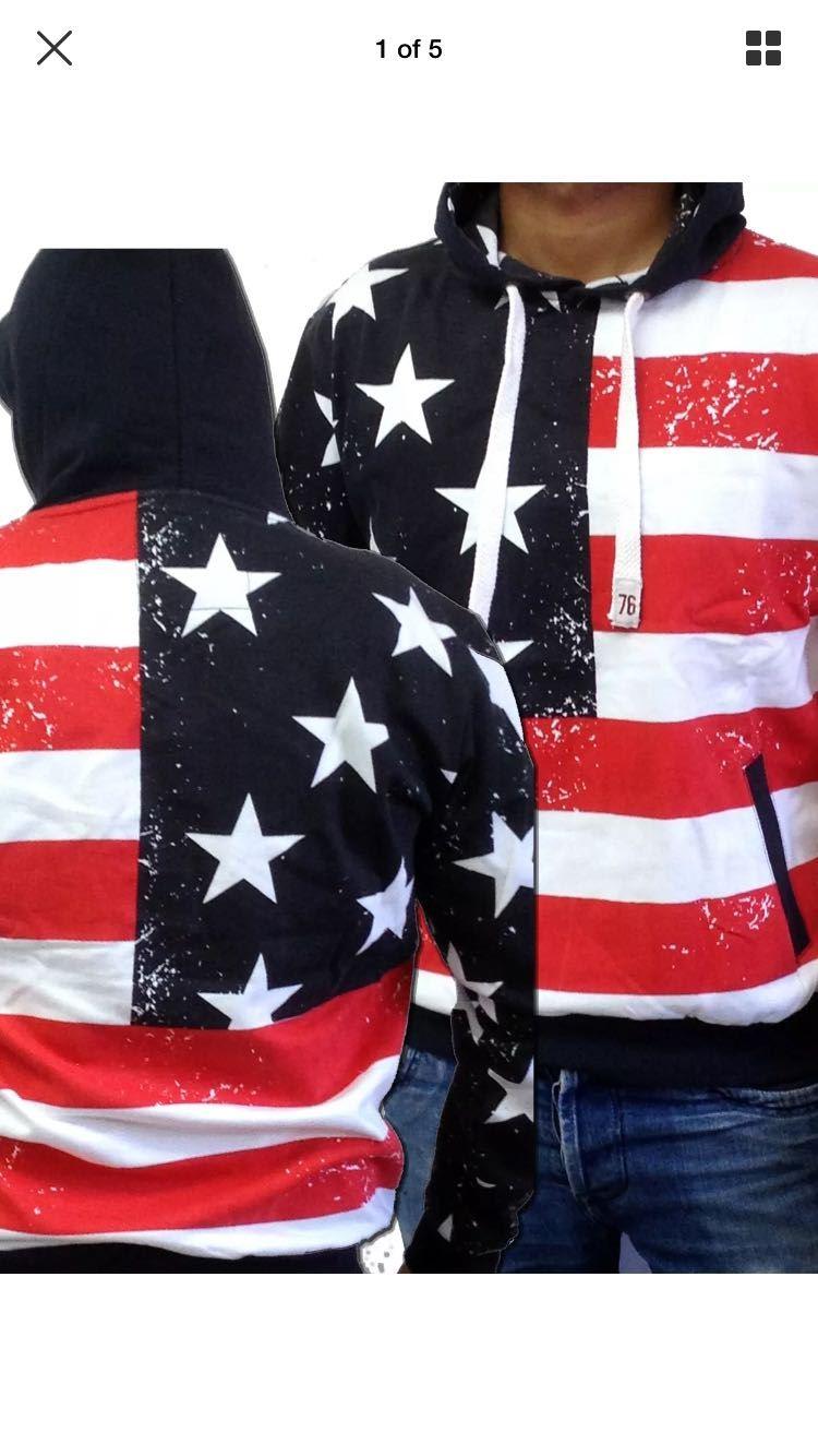 03c1fb3cf8b Mens Fleece American Flag Overhead USA Stripes And Stars Overhead