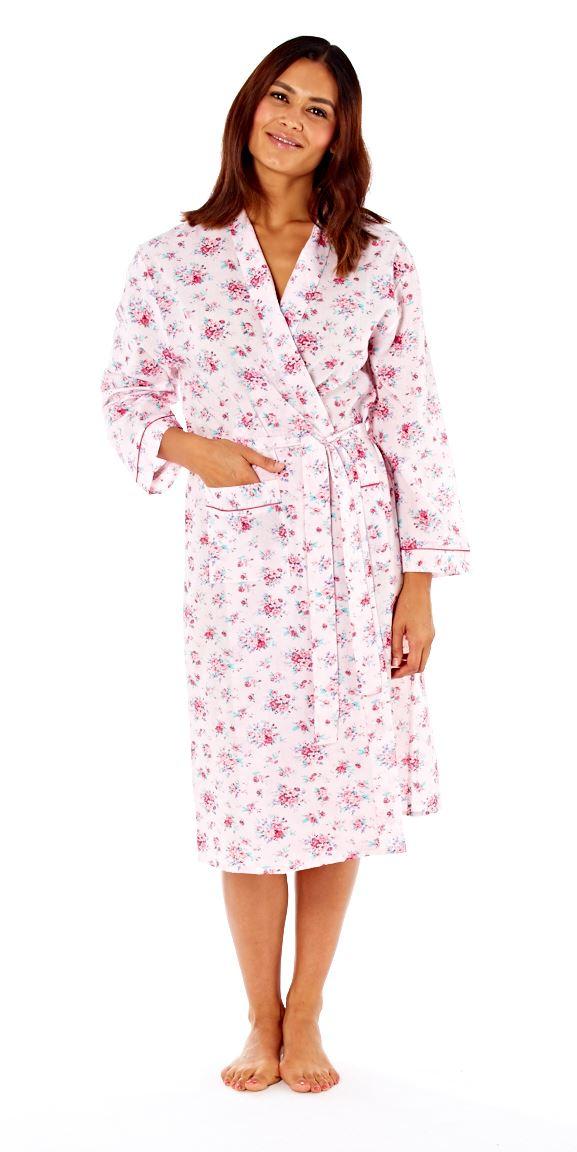 Womens Robe Annie Kimono Floral Lightweight Summer Wrap Dressing ...
