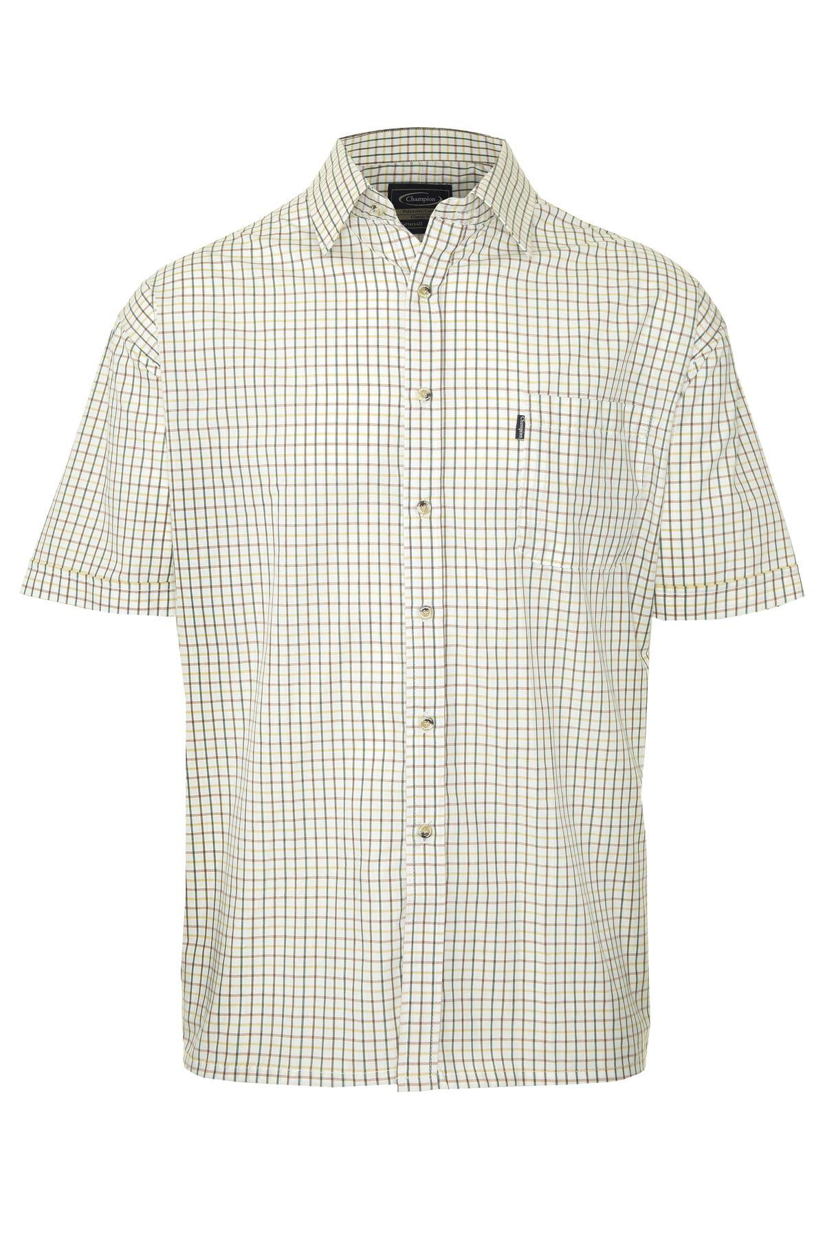 Champion-Mens-Shirt-Check-Short-Sleeve-Polycotton-Country-Casual thumbnail 5