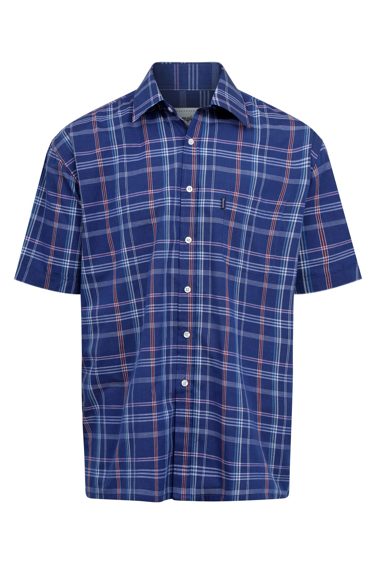 Champion-Mens-Shirt-Check-Short-Sleeve-Polycotton-Country-Casual thumbnail 7