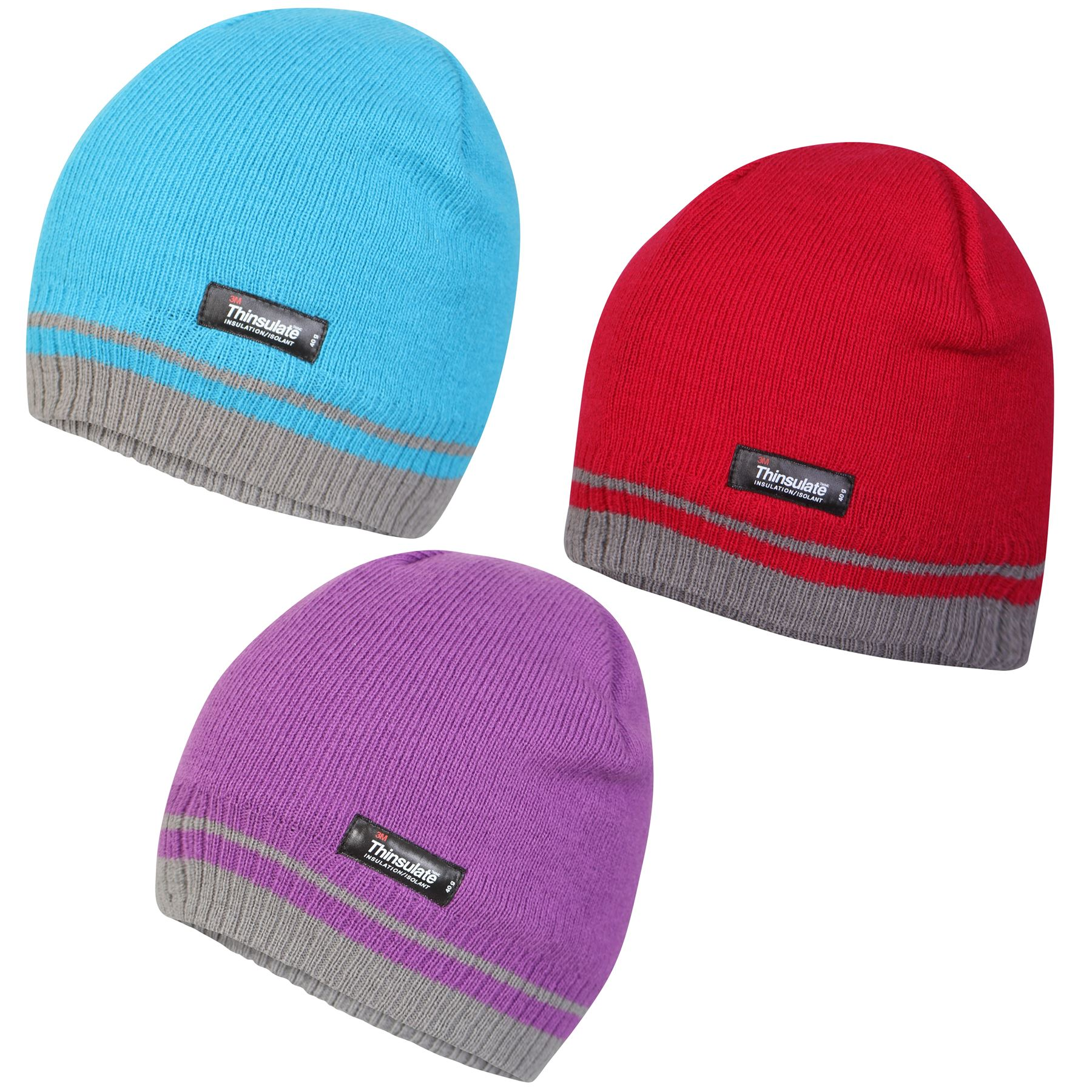 Details about Pro Climate Womens Hat Ladies Thinsulate Striped Beanie One  Size Fits All c002c38cad0