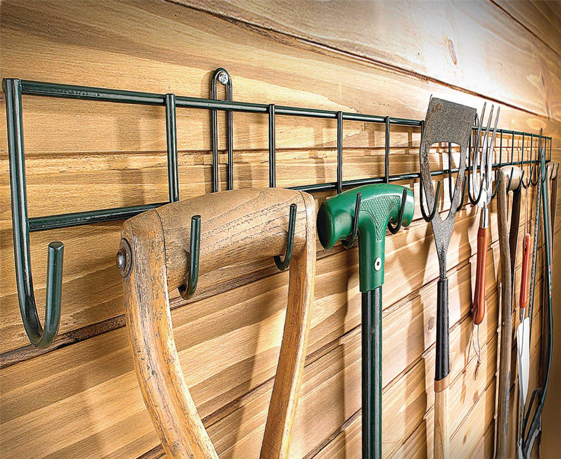 Hanging Rack Garden Tools Holder Wall Storage Metal Organiser 1m ...