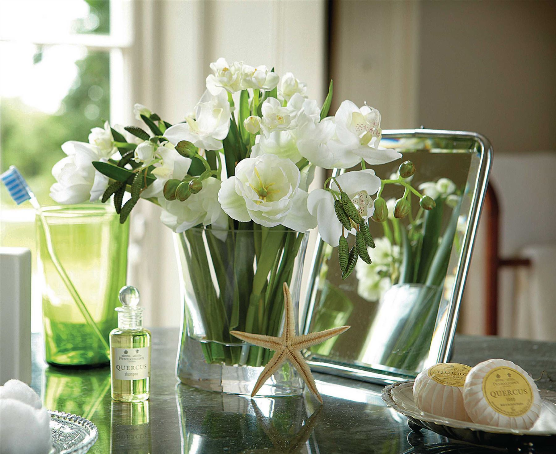 Bloom white bulb arrangement glass vase home decor artificial flower bloom white bulb arrangement glass vase home decor artificial flower bouquet mightylinksfo