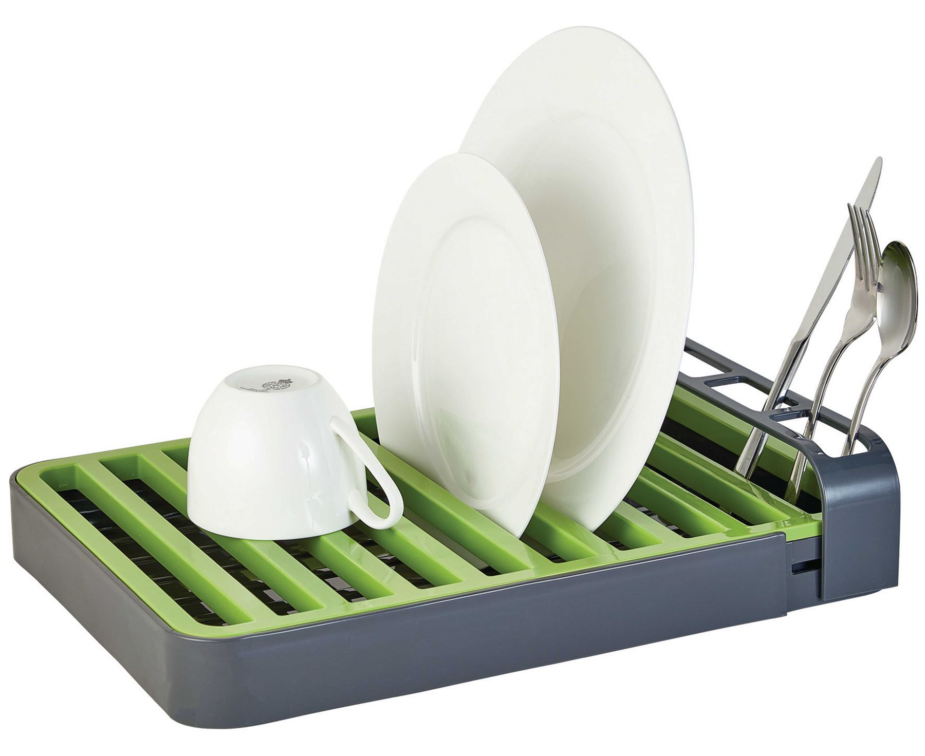 Dish Drainer Drying Rack Cutlery Holder Removable Drip Plate Tray