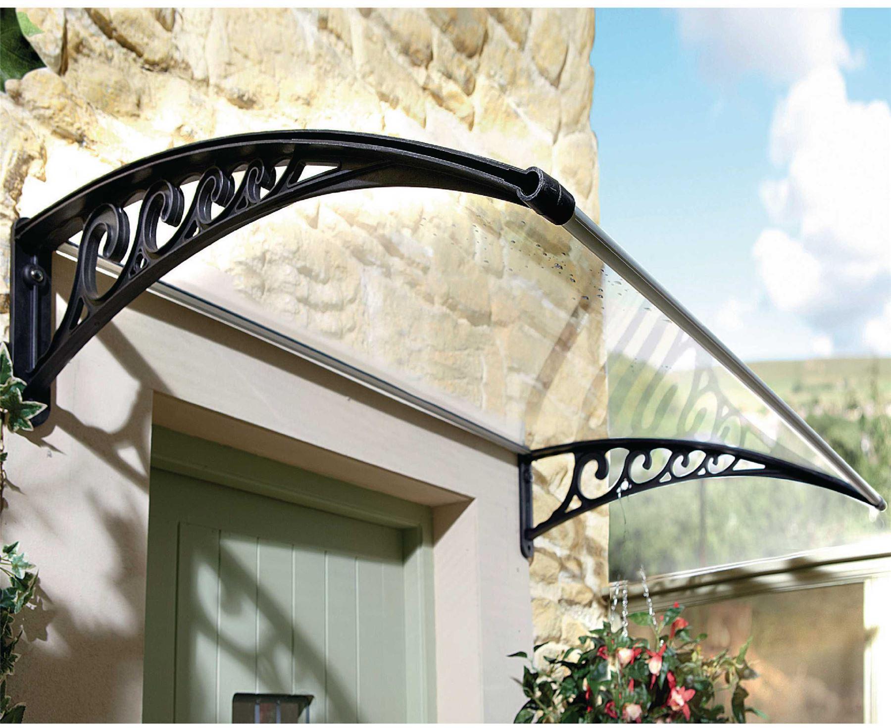 Bergman Instant Fit Front Door Canopy Rain Cover Porch Outdoor Shade