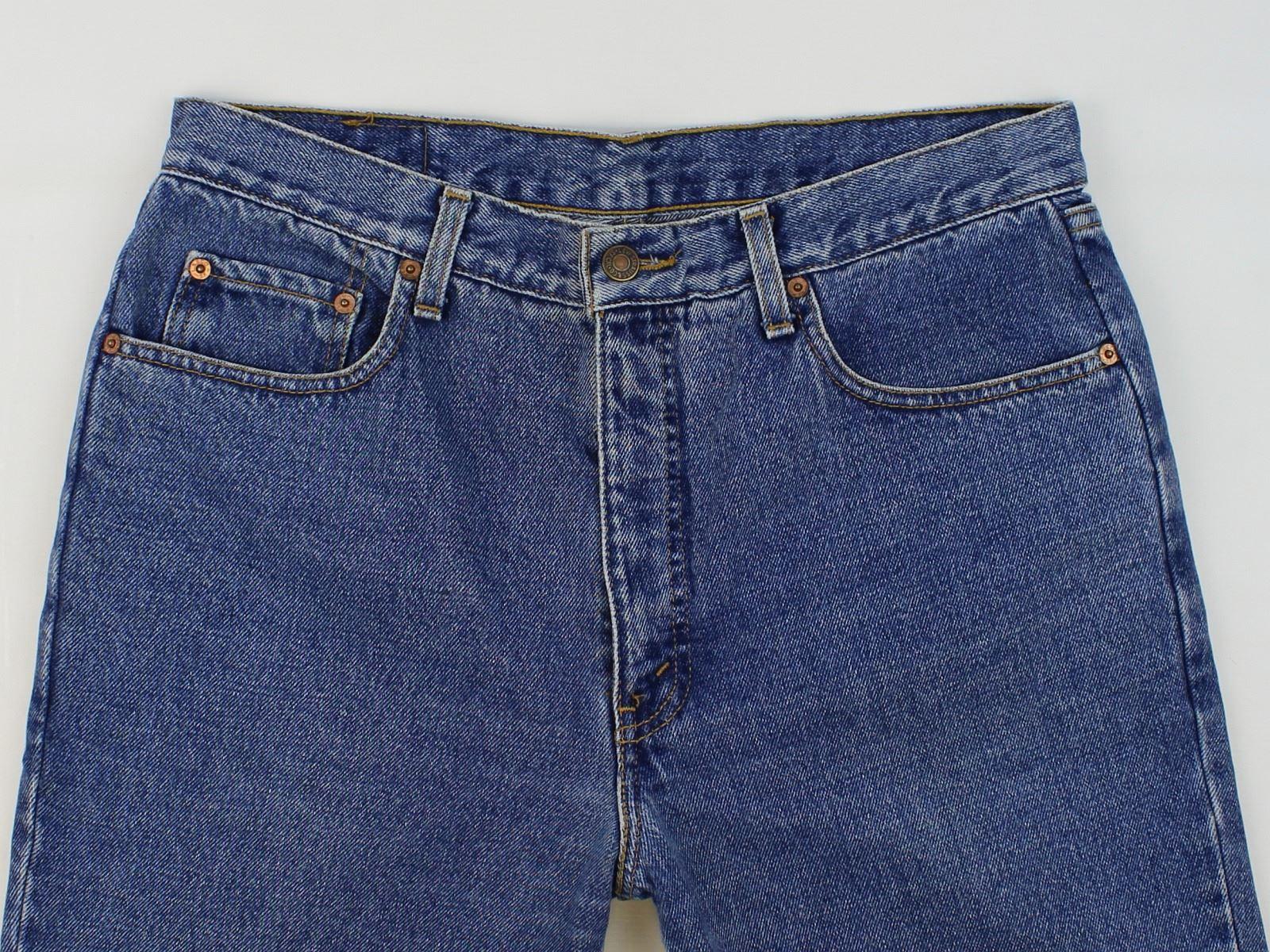 Levis 630 Mens Blue Classic Fit Straight Jeans