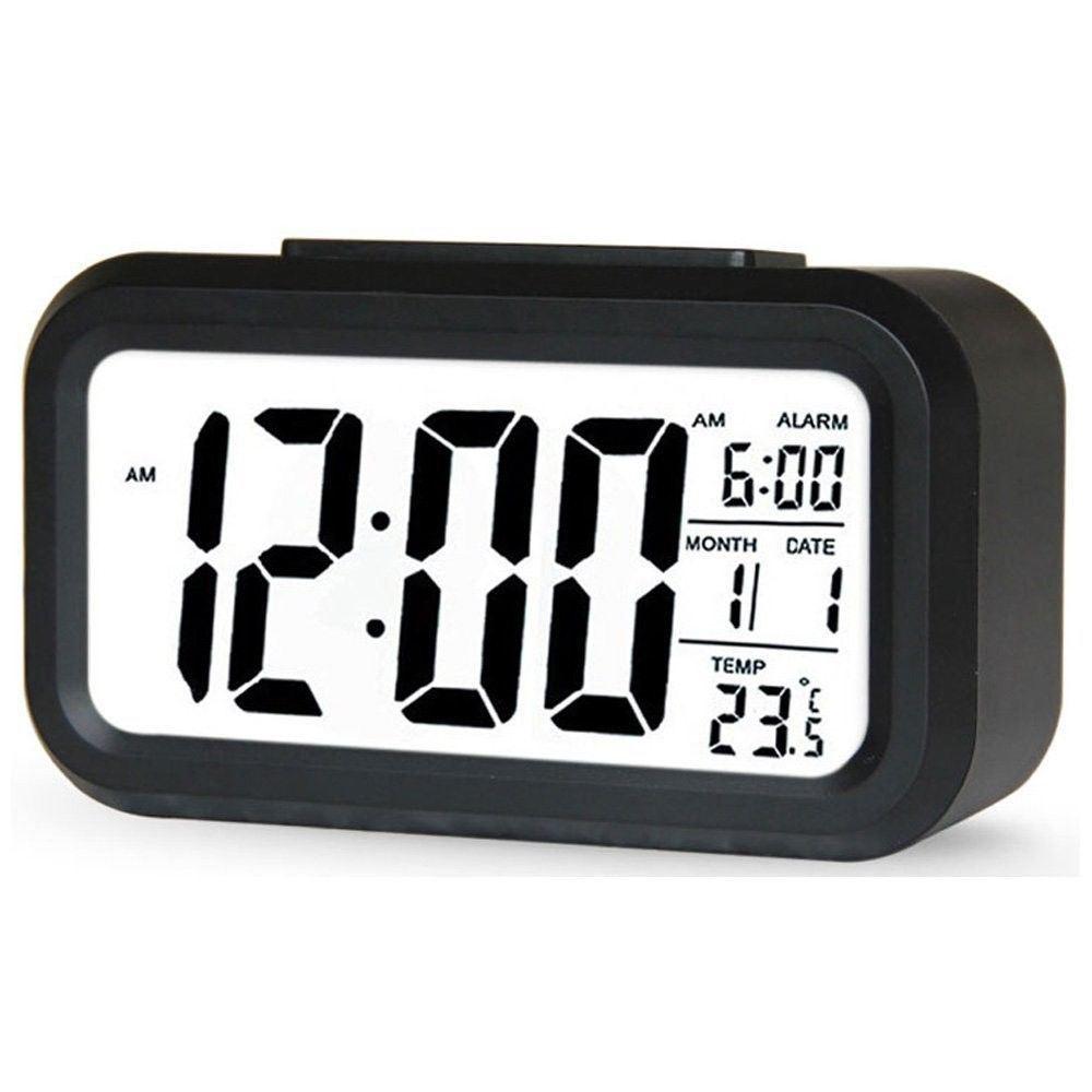 Reloj-Despertador-proyeccion-Digital-Tiempo-LCD-repeticion-de-alarma-de-luz-LED-de-Pantalla-a-Color
