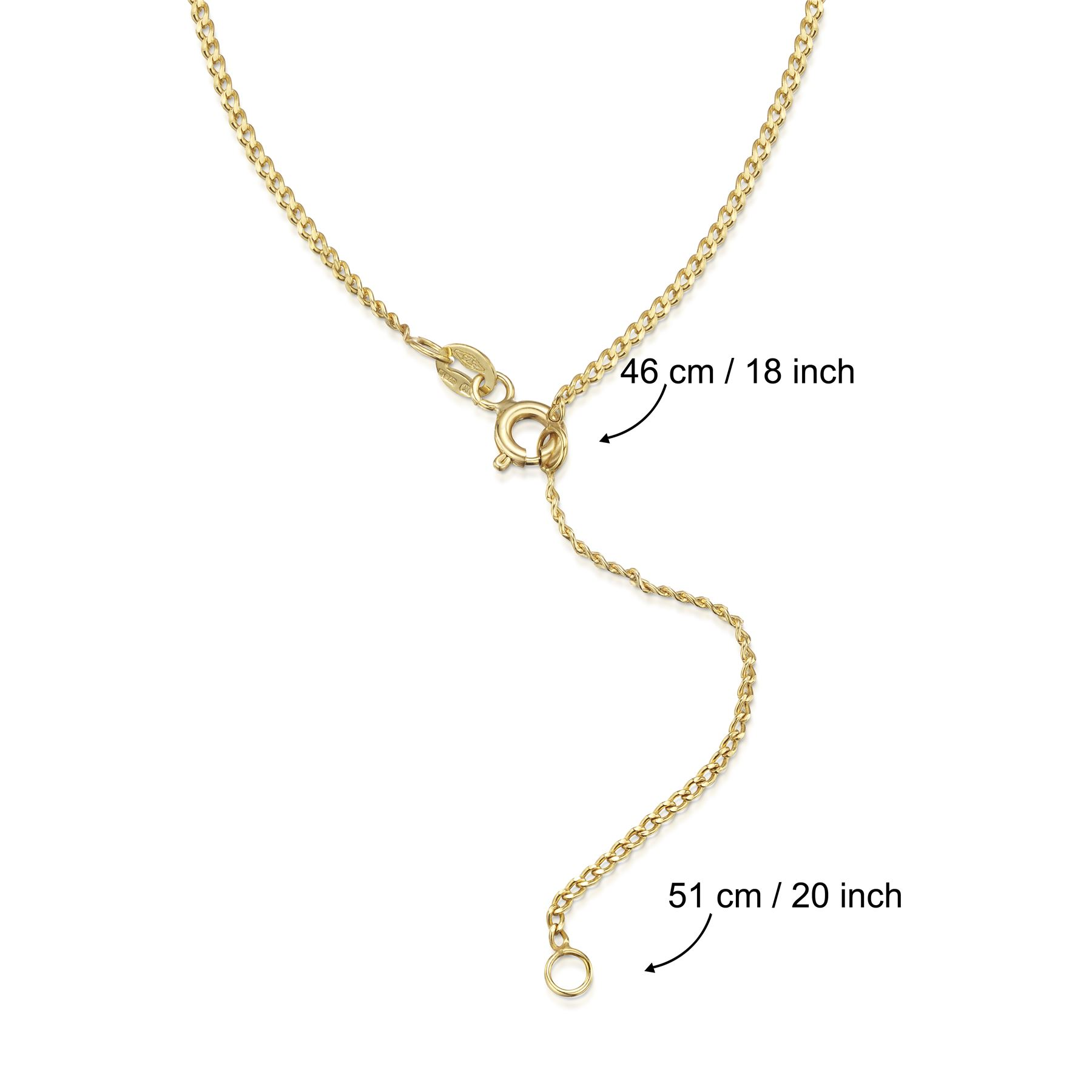 Amberta-Genuine-Real-Yellow-Gold-9K-Solid-Strong-Adjustable-Necklace-Chain-Italy thumbnail 8