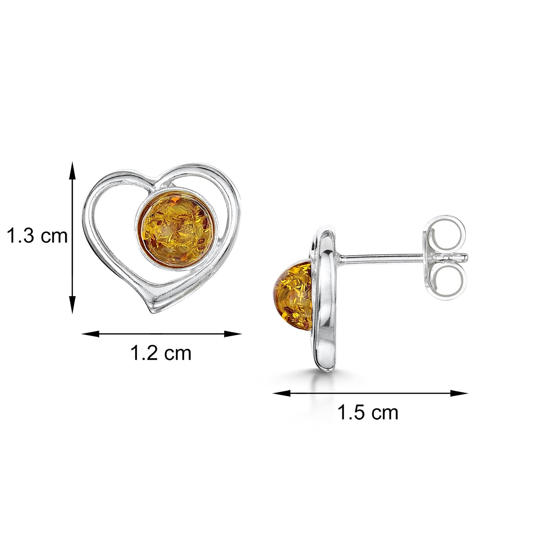 Amberta-Genuine-925-Sterling-Silver-Earrings-with-Natural-Baltic-Amber-Gemstone thumbnail 82