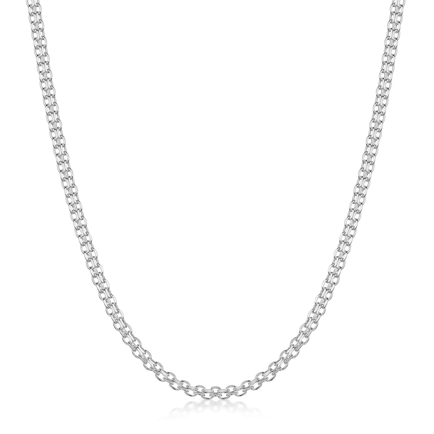 Amberta-Collar-en-Plata-De-Ley-925-Autentica-Cadena-para-Mujer-y-Hombre-Italiana miniatura 94