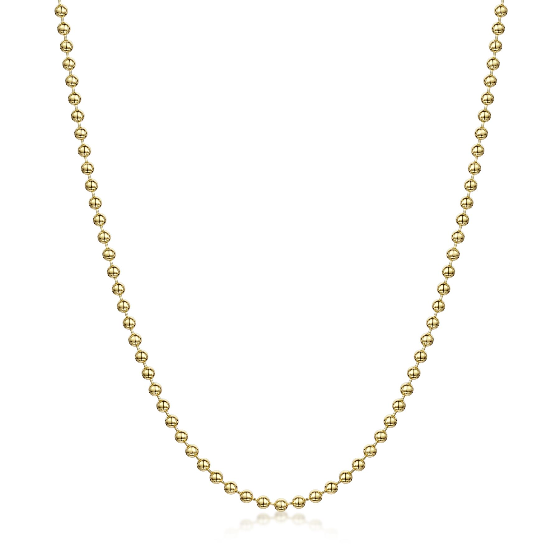 Amberta-Genuine-Gold-Plated-on-Real-925-Sterling-Silver-Necklace-Chain-Italy miniatura 27