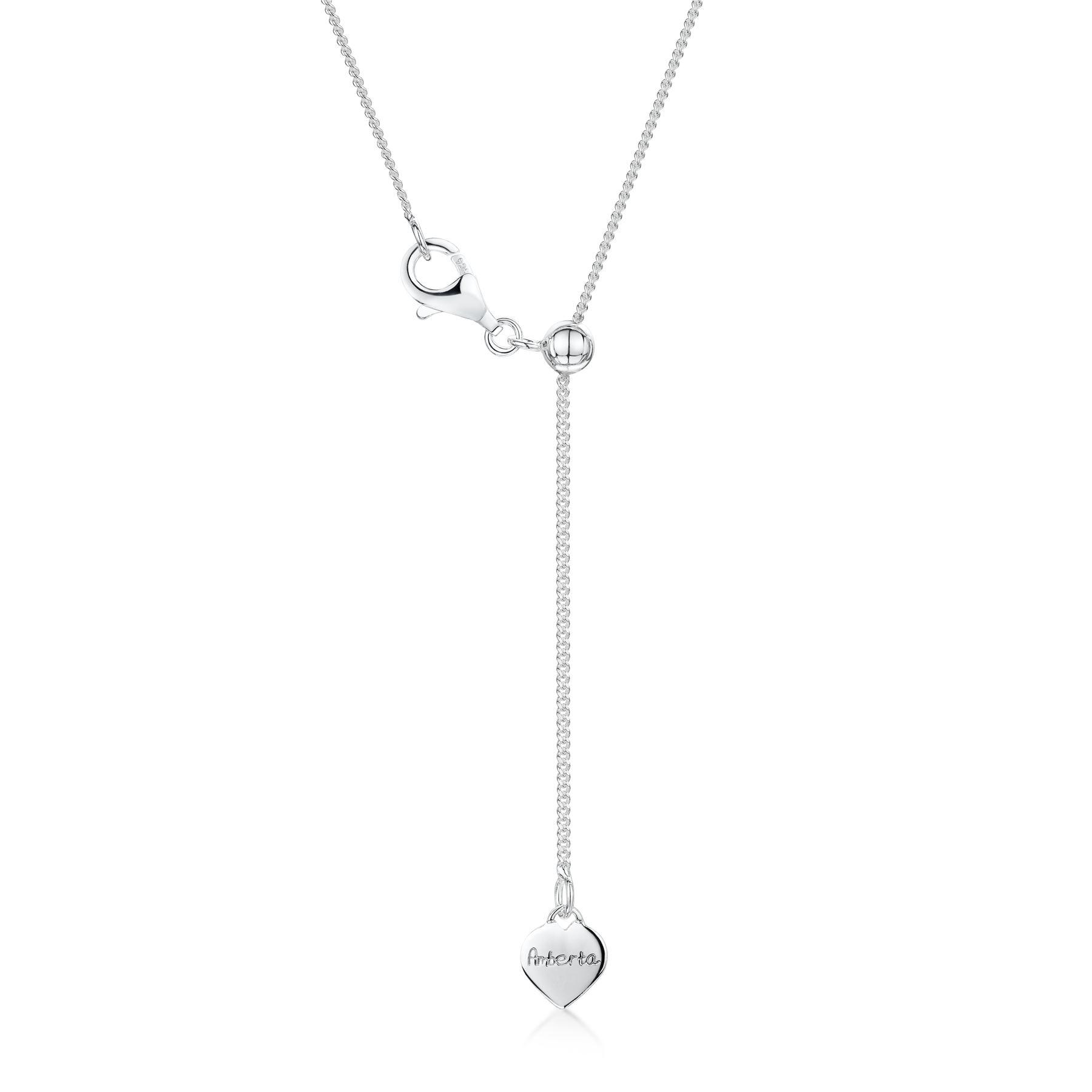 Amberta-Collar-en-Fina-Plata-de-Ley-925-Cadena-de-Corazon-Ajustable-para-Mujer miniatura 15