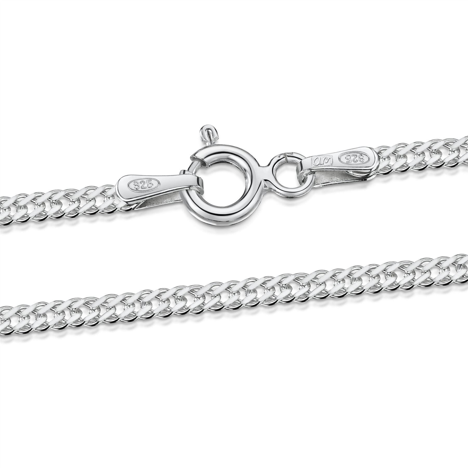 Amberta-Bijoux-Bracelet-en-Vrai-Argent-Sterling-925-Chaine-pour-Femme-a-la-Mode thumbnail 53