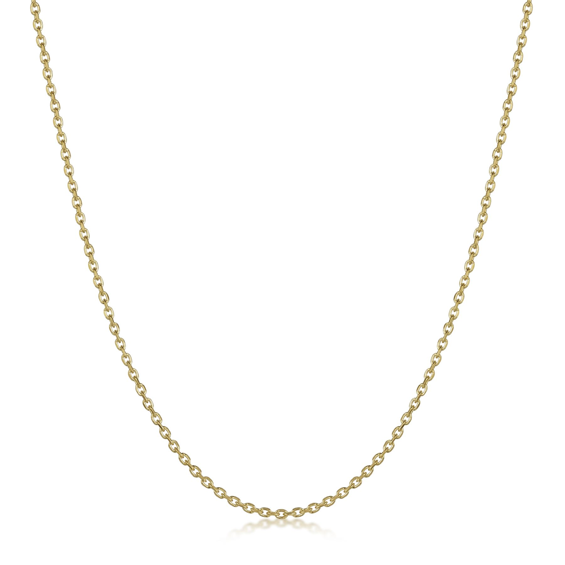 Amberta-Genuine-Gold-Plated-on-Real-925-Sterling-Silver-Necklace-Chain-Italy miniatura 15