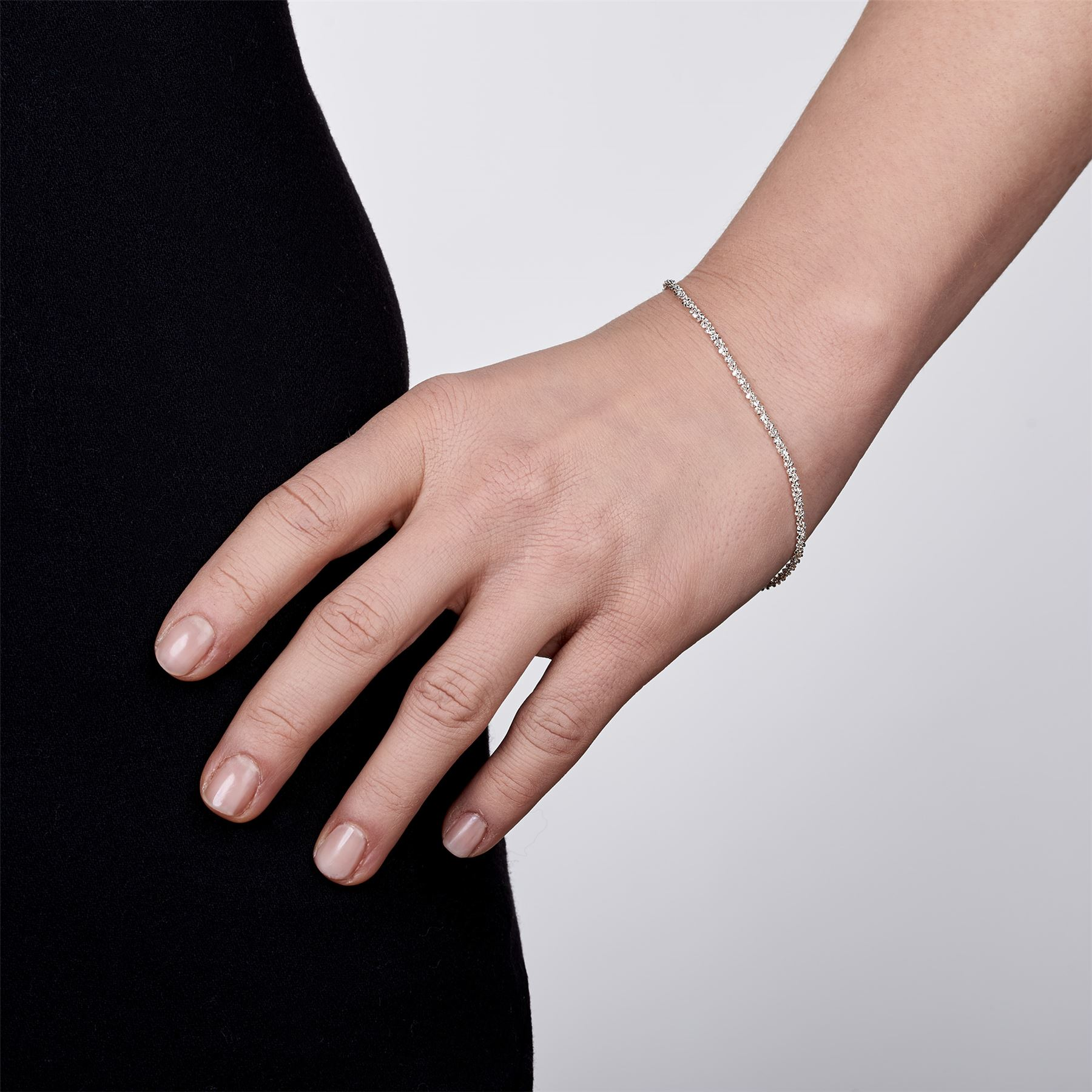 Amberta-Jewelry-Genuine-925-Sterling-Silver-Bracelet-Bangle-Chain-Made-in-Italy thumbnail 56