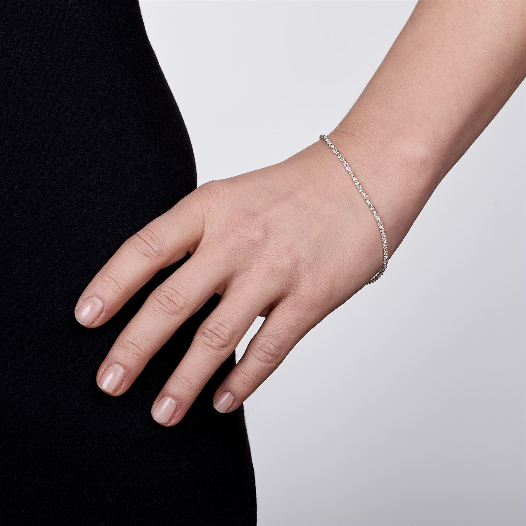 Amberta-Bijoux-Bracelet-en-Vrai-Argent-Sterling-925-Chaine-pour-Femme-a-la-Mode thumbnail 50