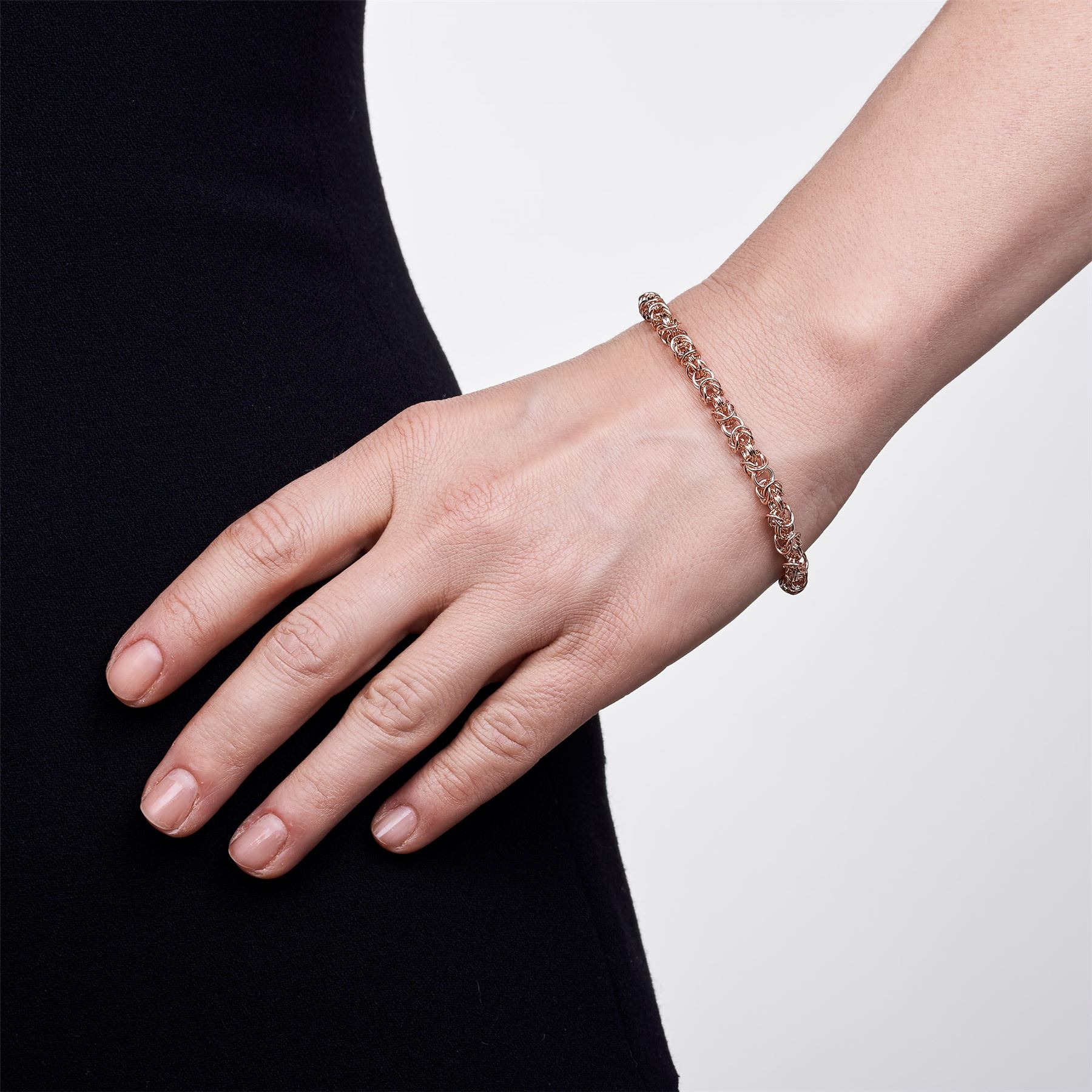Amberta-Genuine-Real-925-Sterling-Silver-Chain-Bracelet-for-Women-from-Italy miniature 18
