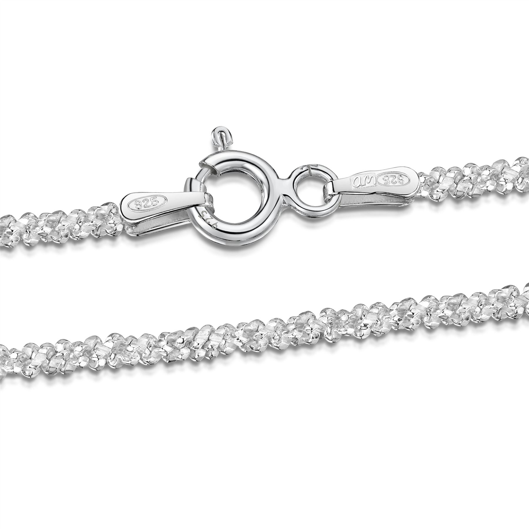 Amberta-Bijoux-Bracelet-en-Vrai-Argent-Sterling-925-Chaine-pour-Femme-a-la-Mode thumbnail 48