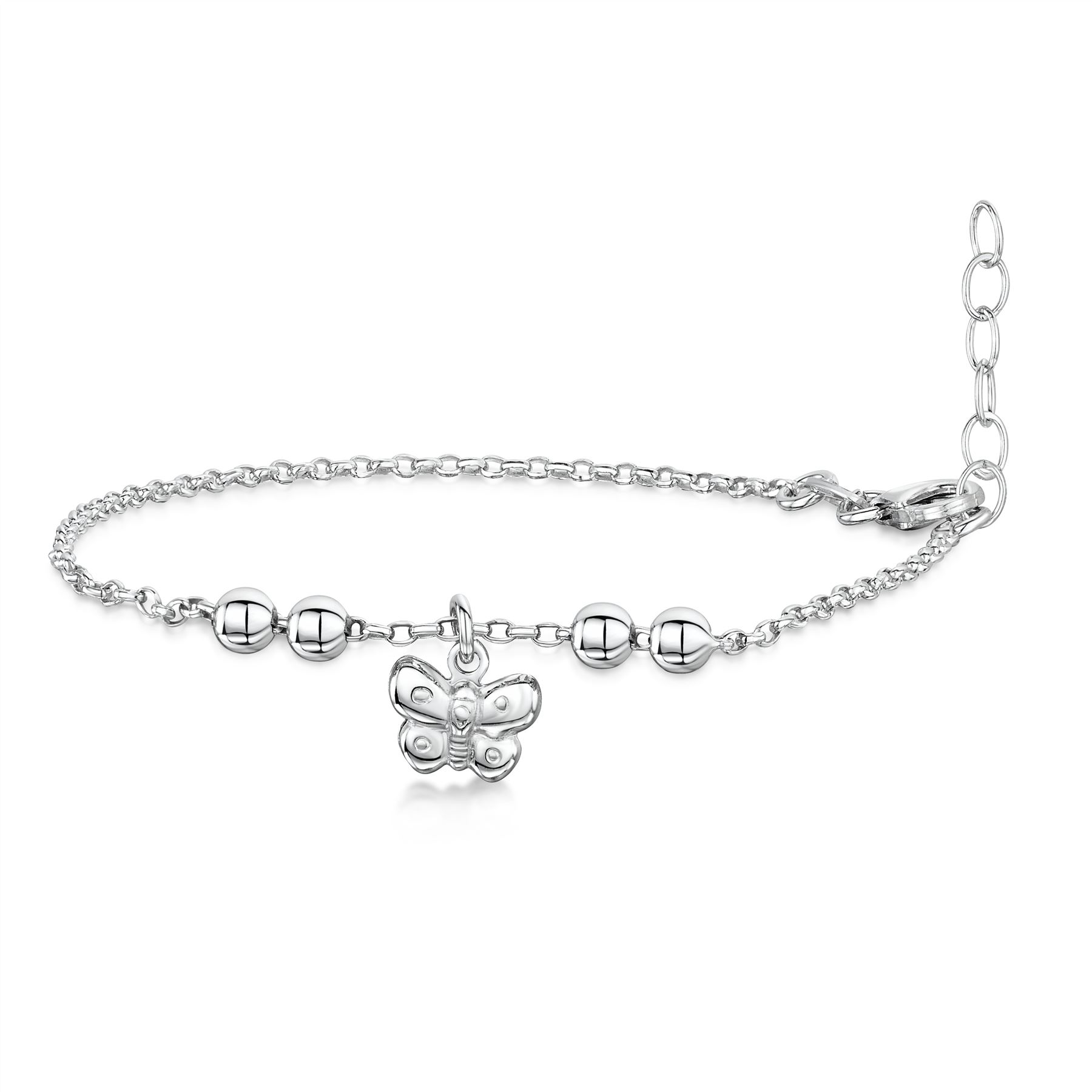 Amberta-Jewelry-925-Sterling-Silver-Adjustable-Anklet-for-Women-Made-in-Italy miniature 27