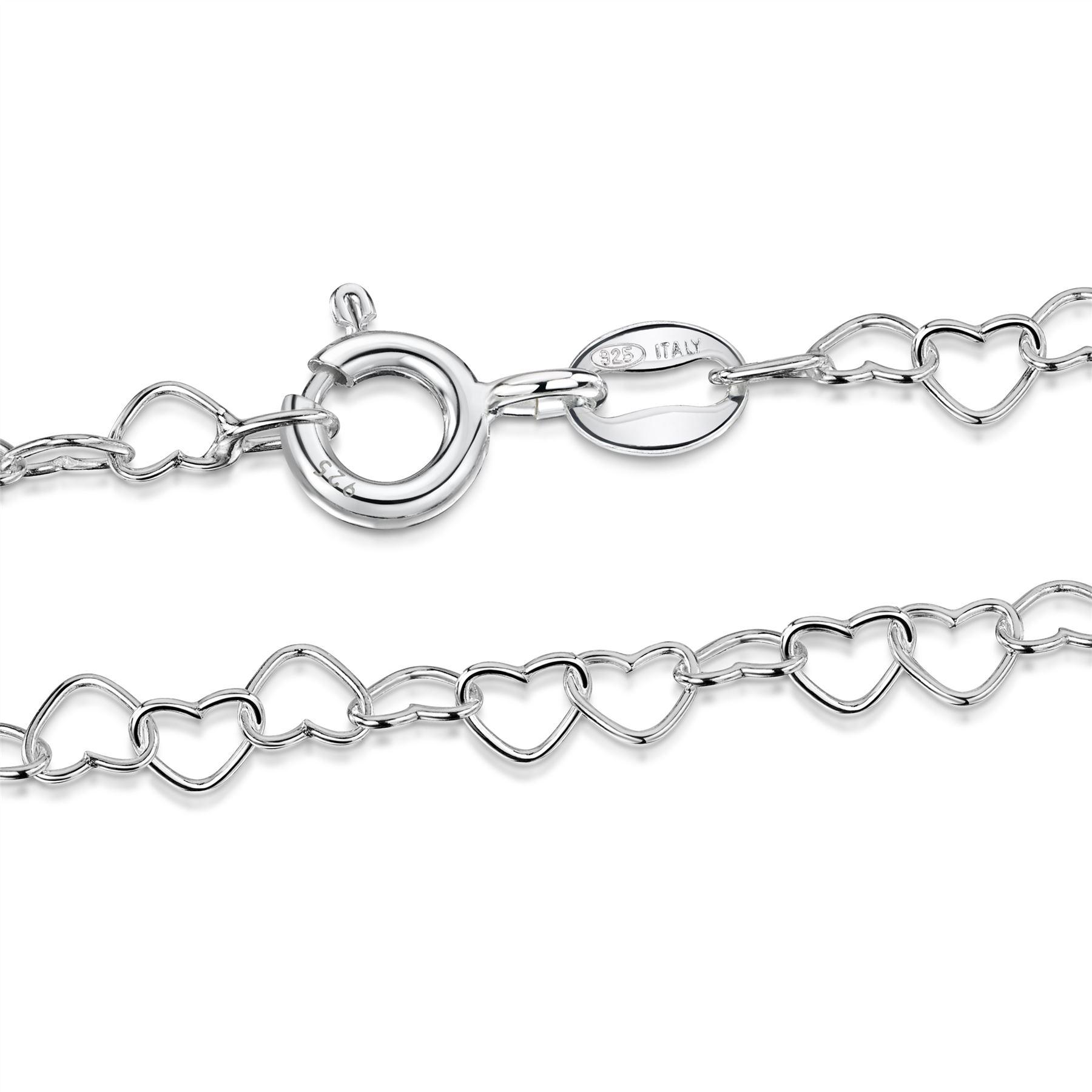 Amberta-Bijoux-Bracelet-en-Vrai-Argent-Sterling-925-Chaine-pour-Femme-a-la-Mode thumbnail 75