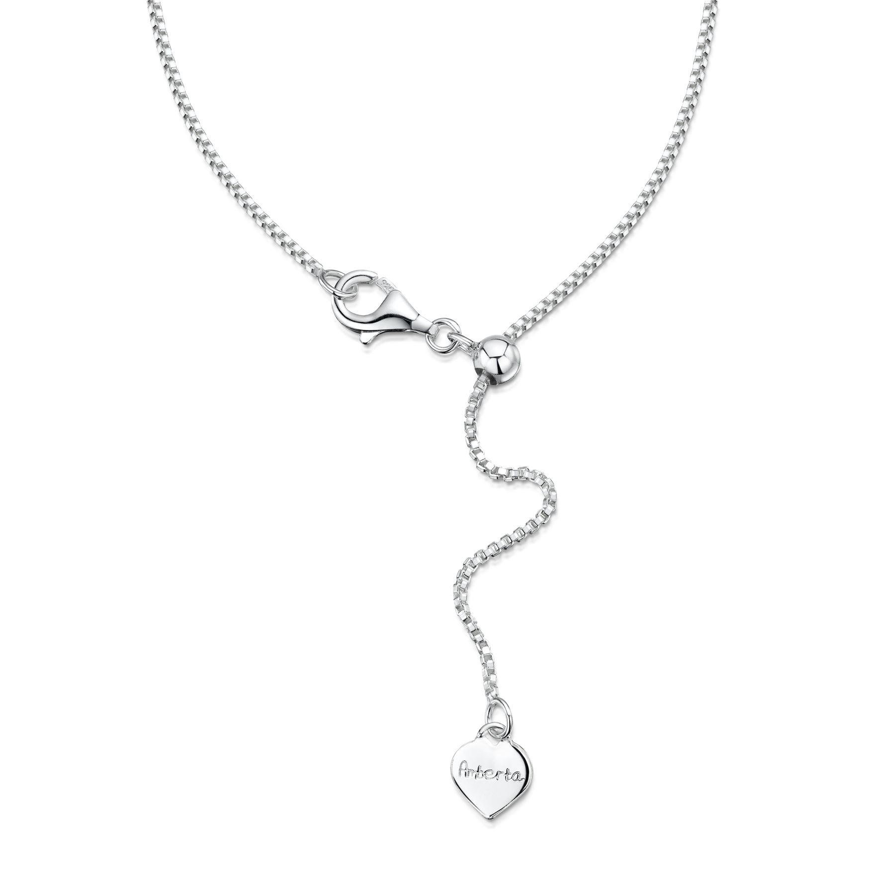 Amberta-Collar-en-Fina-Plata-de-Ley-925-Cadena-de-Corazon-Ajustable-para-Mujer miniatura 9
