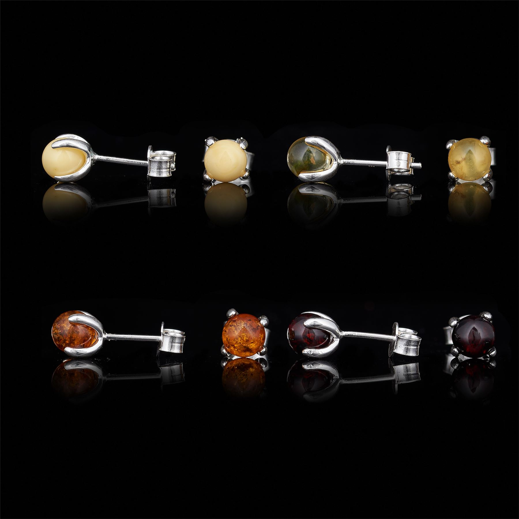Amberta-Genuine-925-Sterling-Silver-Earrings-with-Natural-Baltic-Amber-Gemstone thumbnail 104