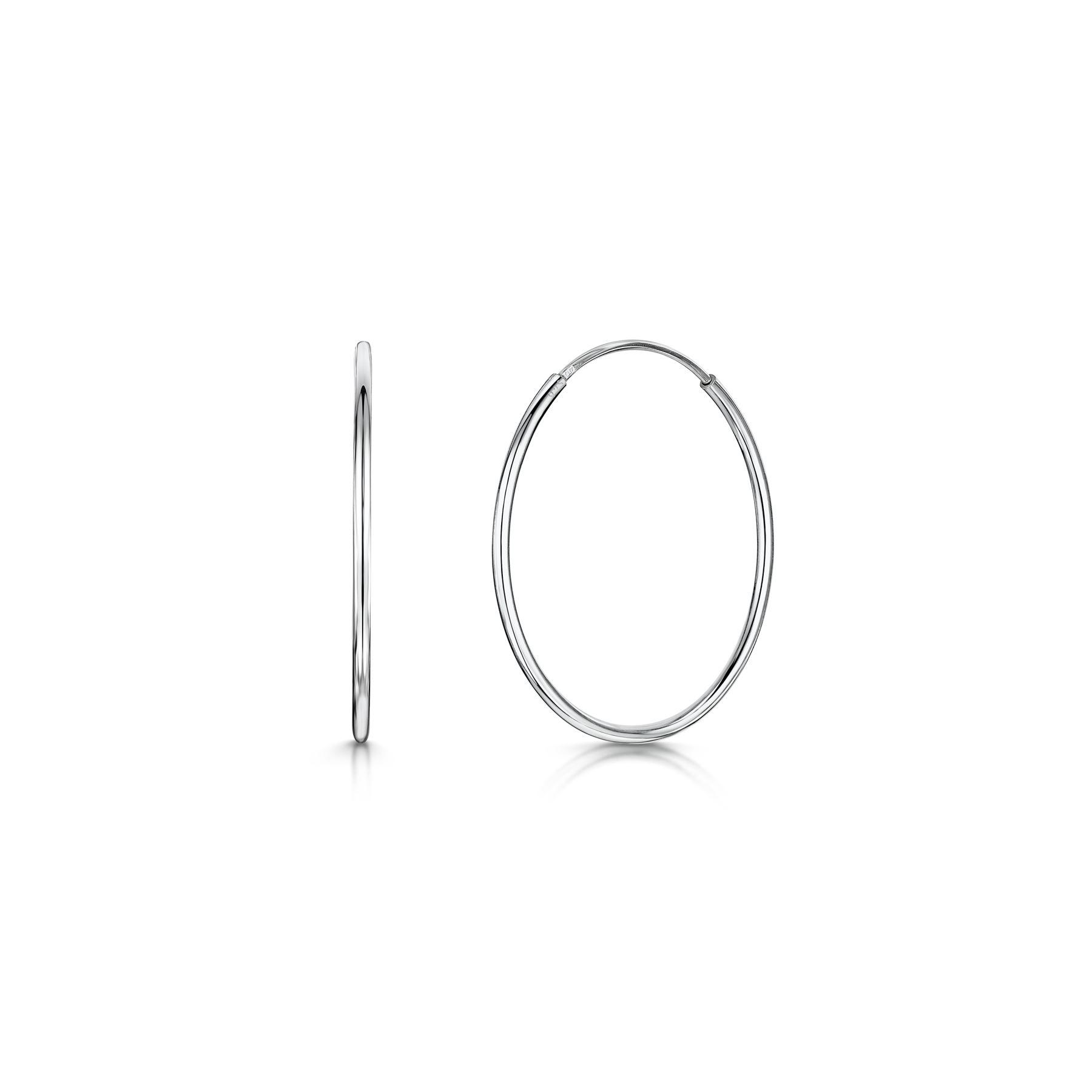 Amberta-Pendientes-para-Mujer-Aros-en-Plata-De-Ley-925-Autentica-Estilo-Clasico miniatura 26