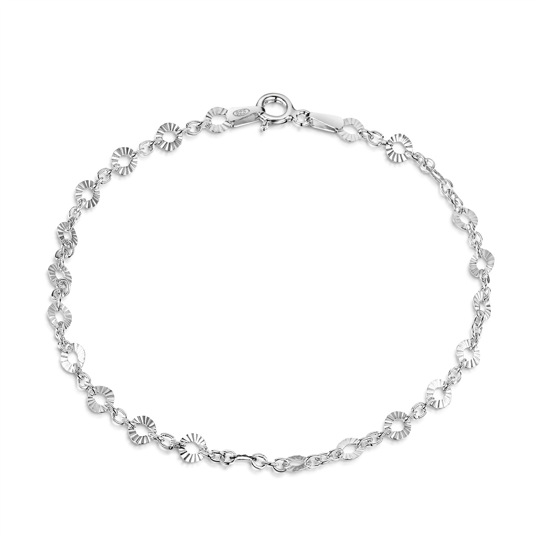 Amberta-Jewelry-Genuine-925-Sterling-Silver-Bracelet-Bangle-Chain-Made-in-Italy thumbnail 22