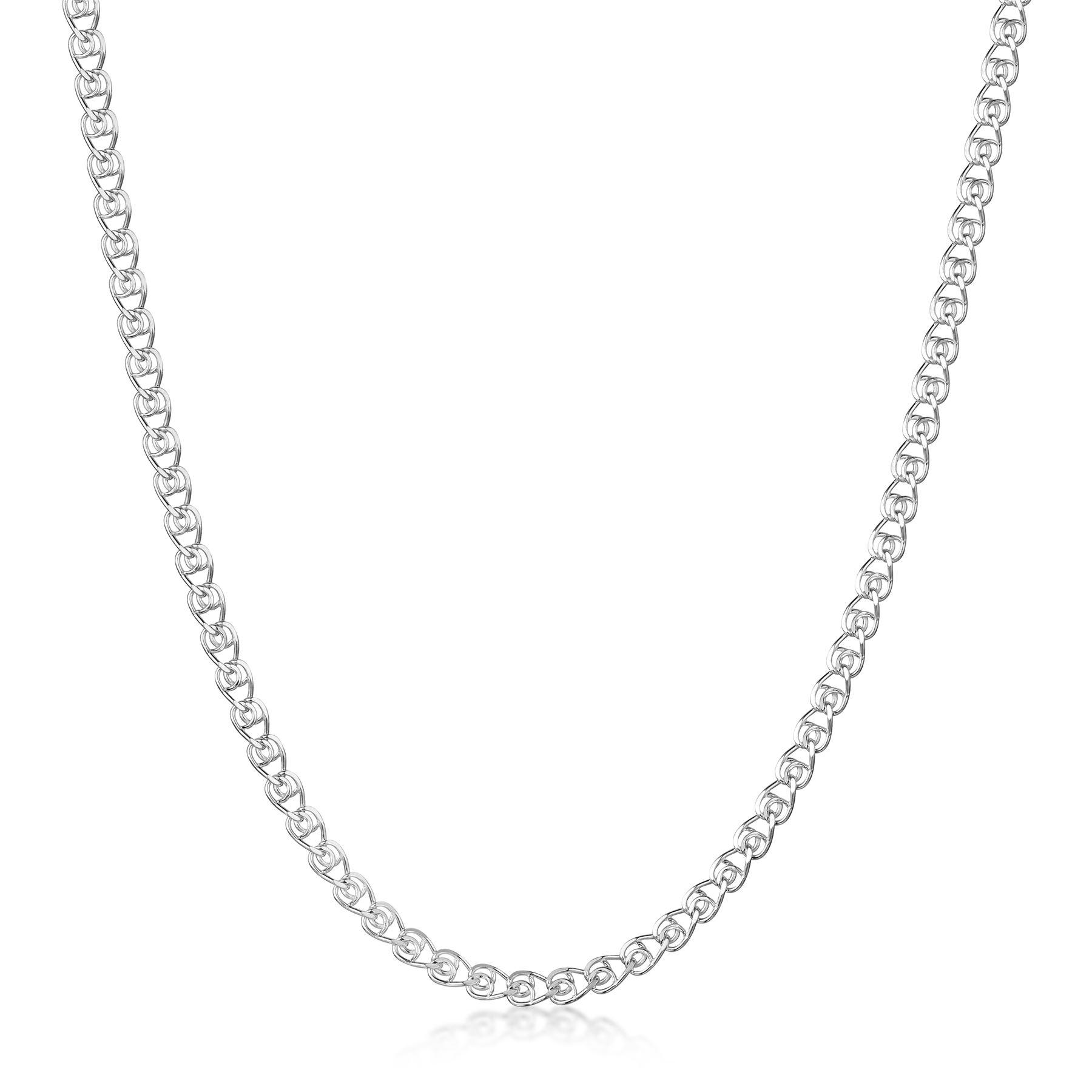 Amberta-Collar-en-Plata-De-Ley-925-Autentica-Cadena-para-Mujer-y-Hombre-Italiana miniatura 102