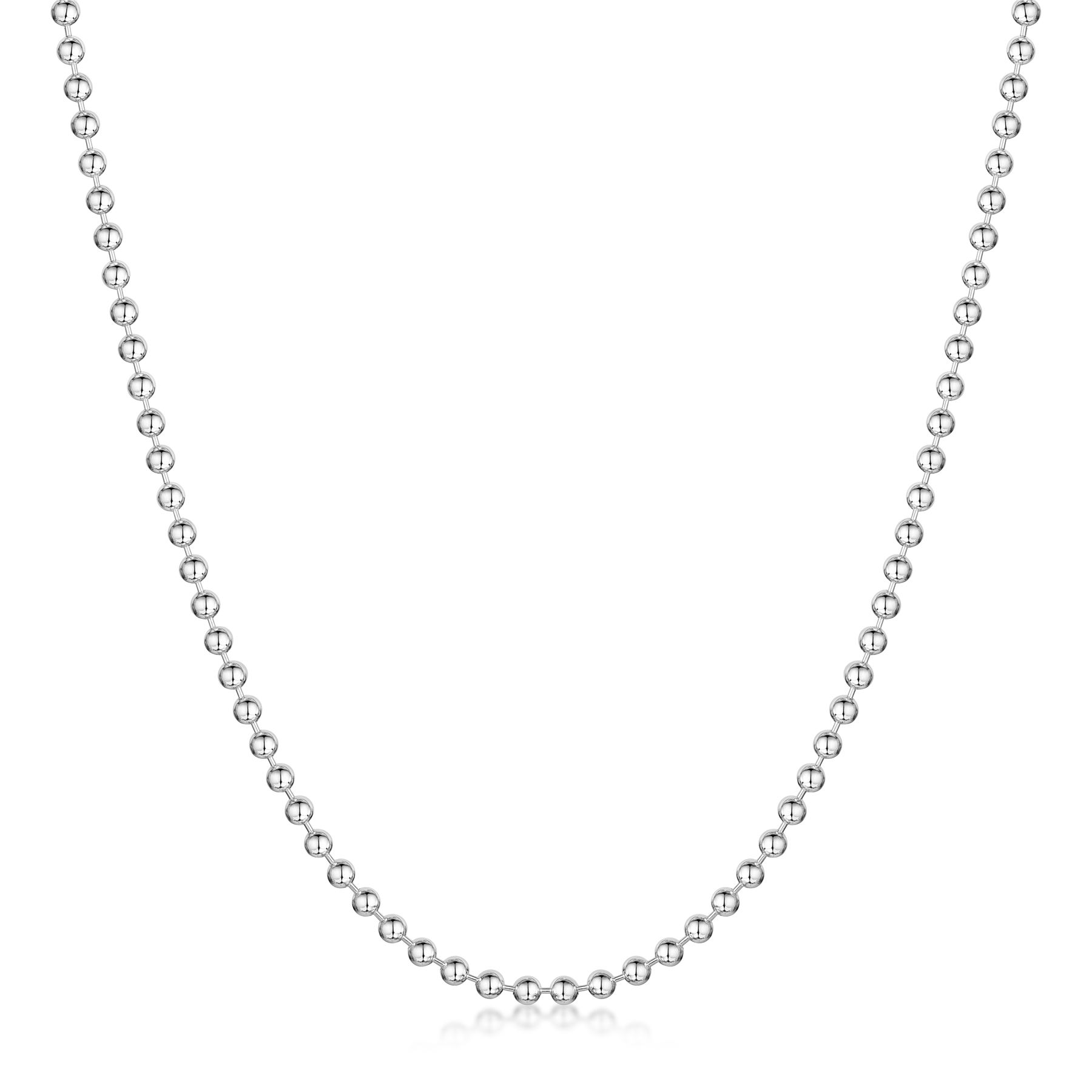 Amberta-Jewelry-Genuine-925-Sterling-Silver-Italian-Bead-Necklace-Ball-Chain thumbnail 10