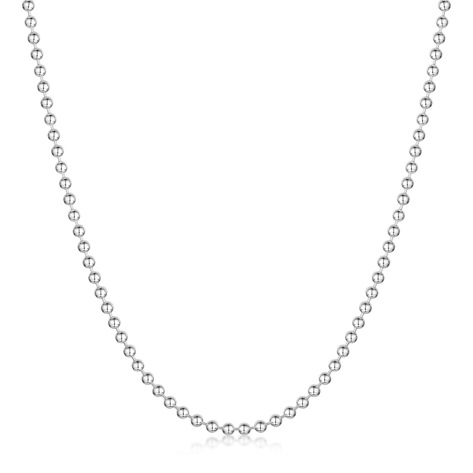 Amberta-Collar-en-Autentica-Plata-De-Ley-925-Cadena-de-Bola-Elegante-para-Mujer miniatura 12
