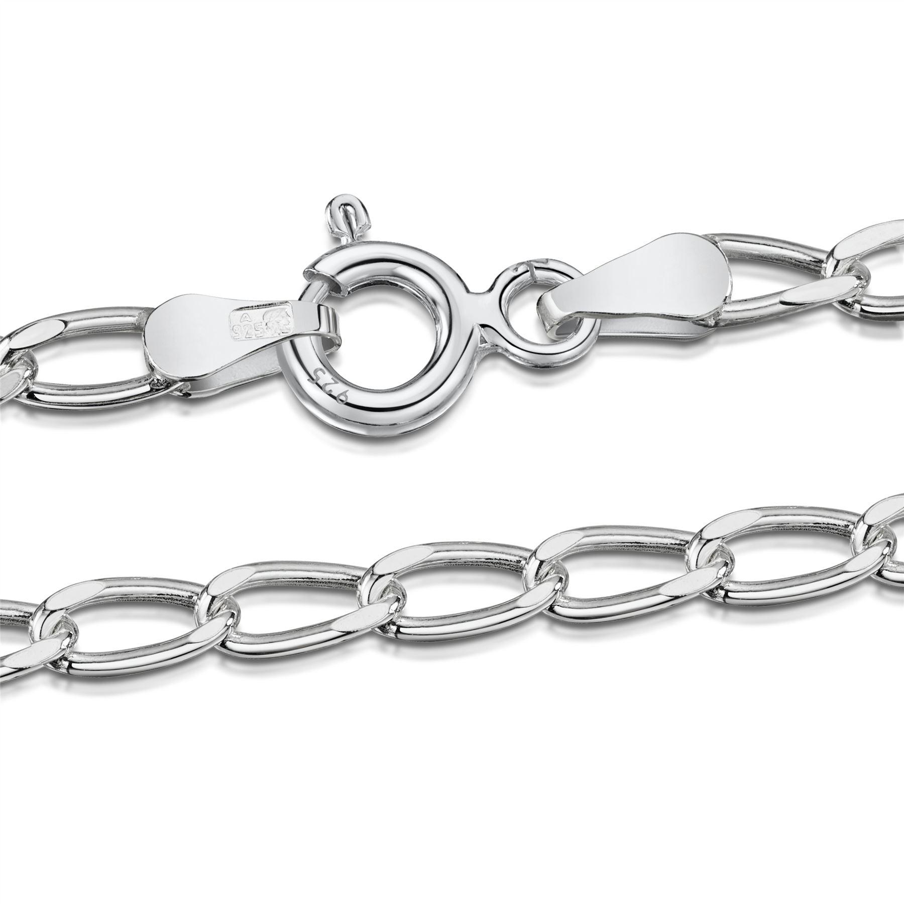 Amberta-Bijoux-Bracelet-en-Vrai-Argent-Sterling-925-Chaine-pour-Femme-a-la-Mode thumbnail 79