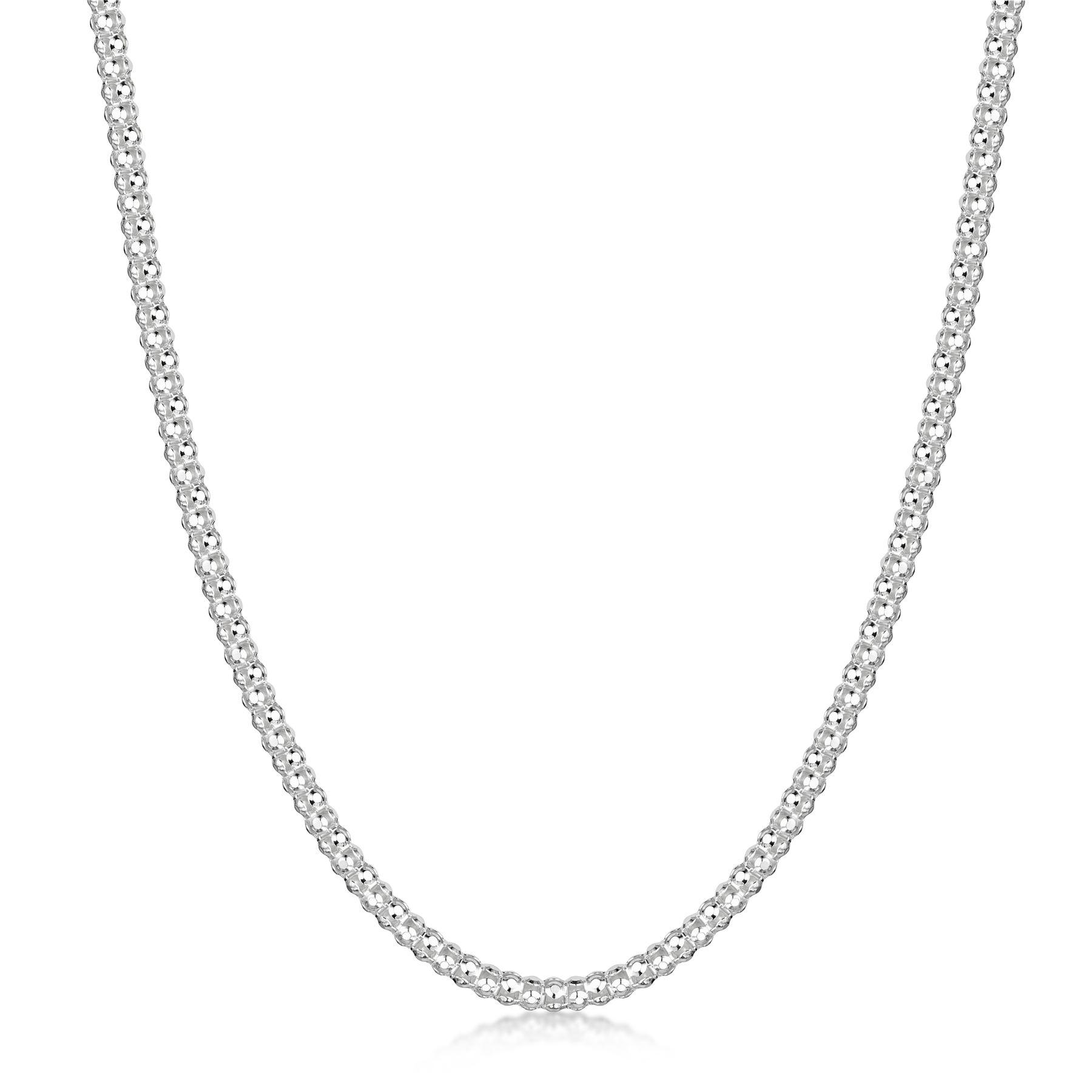 Amberta-Collar-en-Plata-De-Ley-925-Autentica-Cadena-para-Mujer-y-Hombre-Italiana miniatura 111
