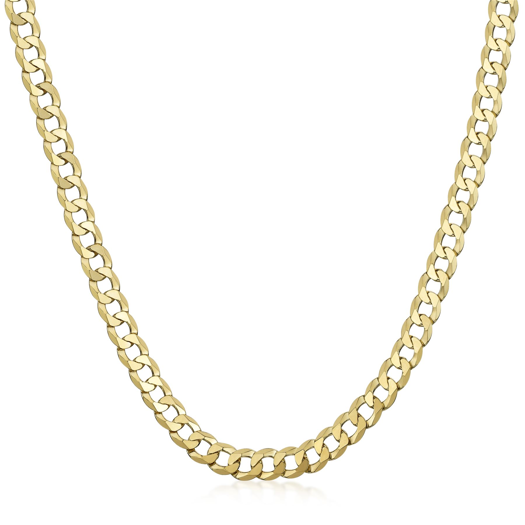 Amberta-925-Sterling-Silver-Link-Chain-Mens-Curb-Cuban-Necklace-ALL-SIZES-Italy thumbnail 61