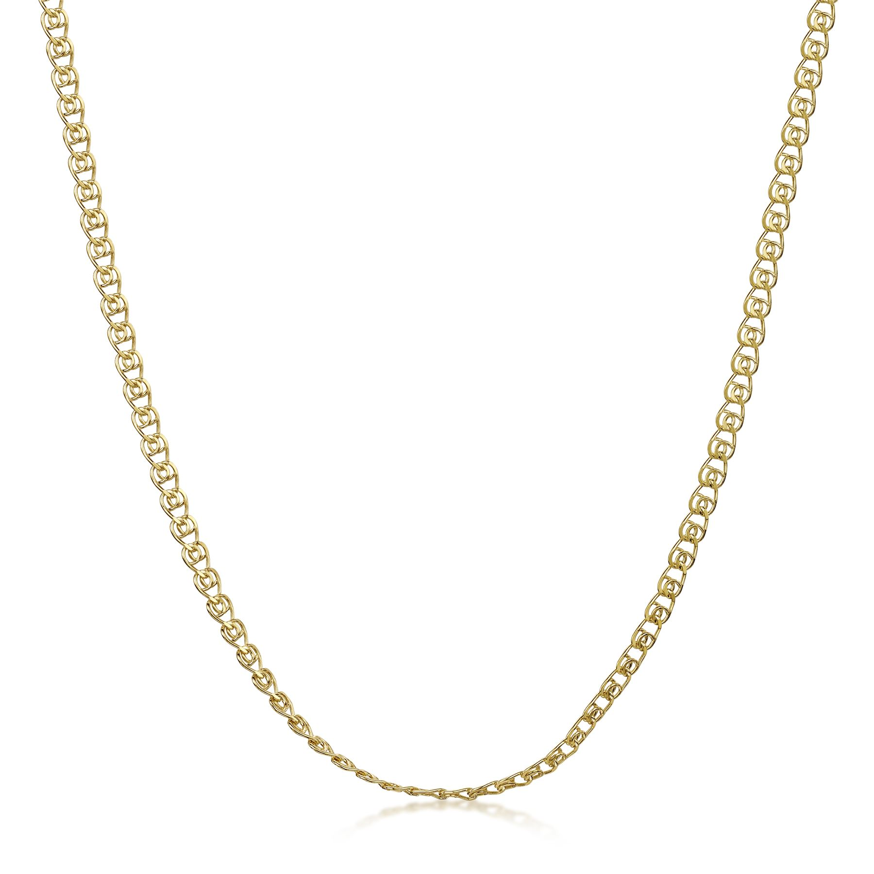 Amberta-Genuine-Gold-Plated-on-Real-925-Sterling-Silver-Necklace-Chain-Italy miniatura 44
