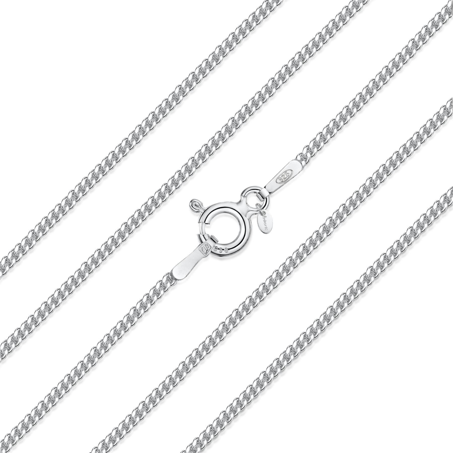 Amberta-Collar-en-Plata-De-Ley-925-Autentica-Cadena-para-Mujer-y-Hombre-Italiana miniatura 54