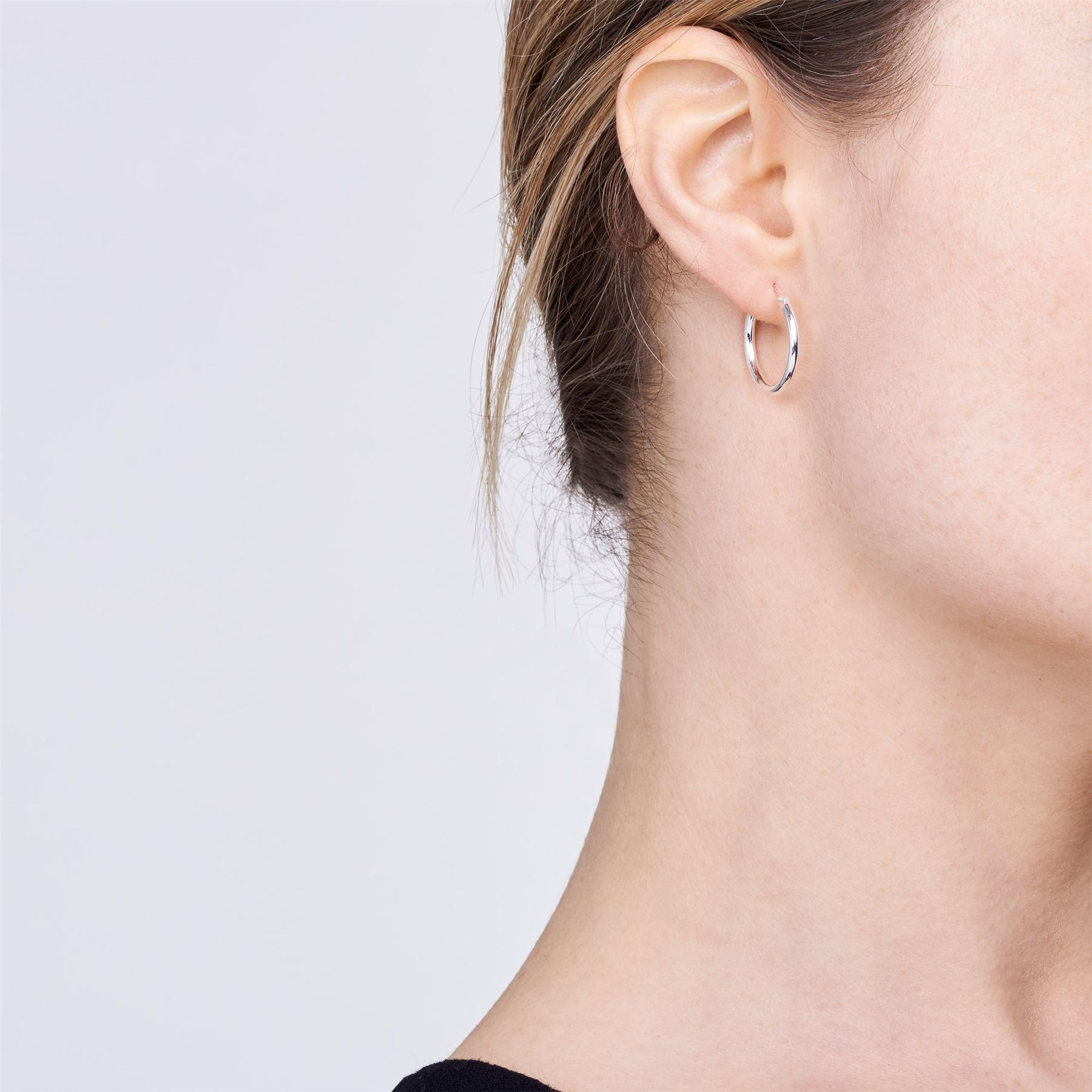 Amberta-Pendientes-para-Mujer-Aros-en-Plata-De-Ley-925-Autentica-Estilo-Clasico miniatura 11
