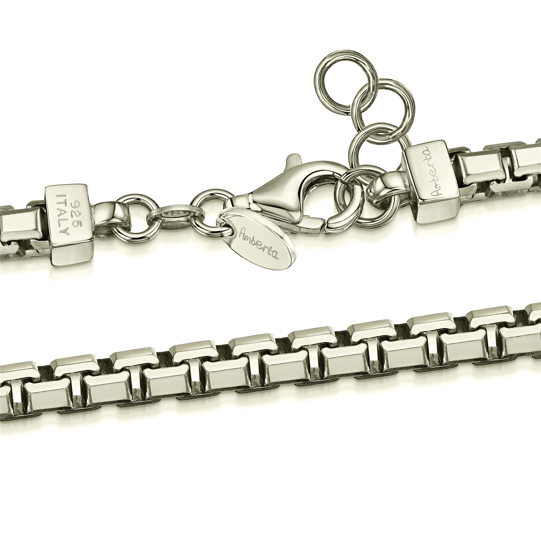 Amberta-Real-925-Sterling-Silver-Male-Arm-Chain-Chunky-Bracelet-for-Men-Italy thumbnail 3