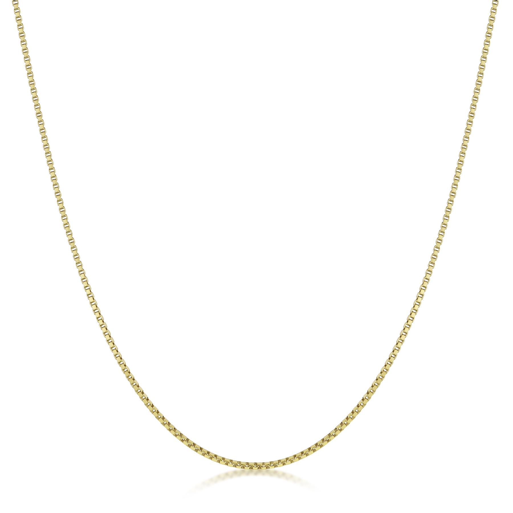 Amberta-Genuine-Gold-Plated-on-Real-925-Sterling-Silver-Necklace-Chain-Italy miniatura 3