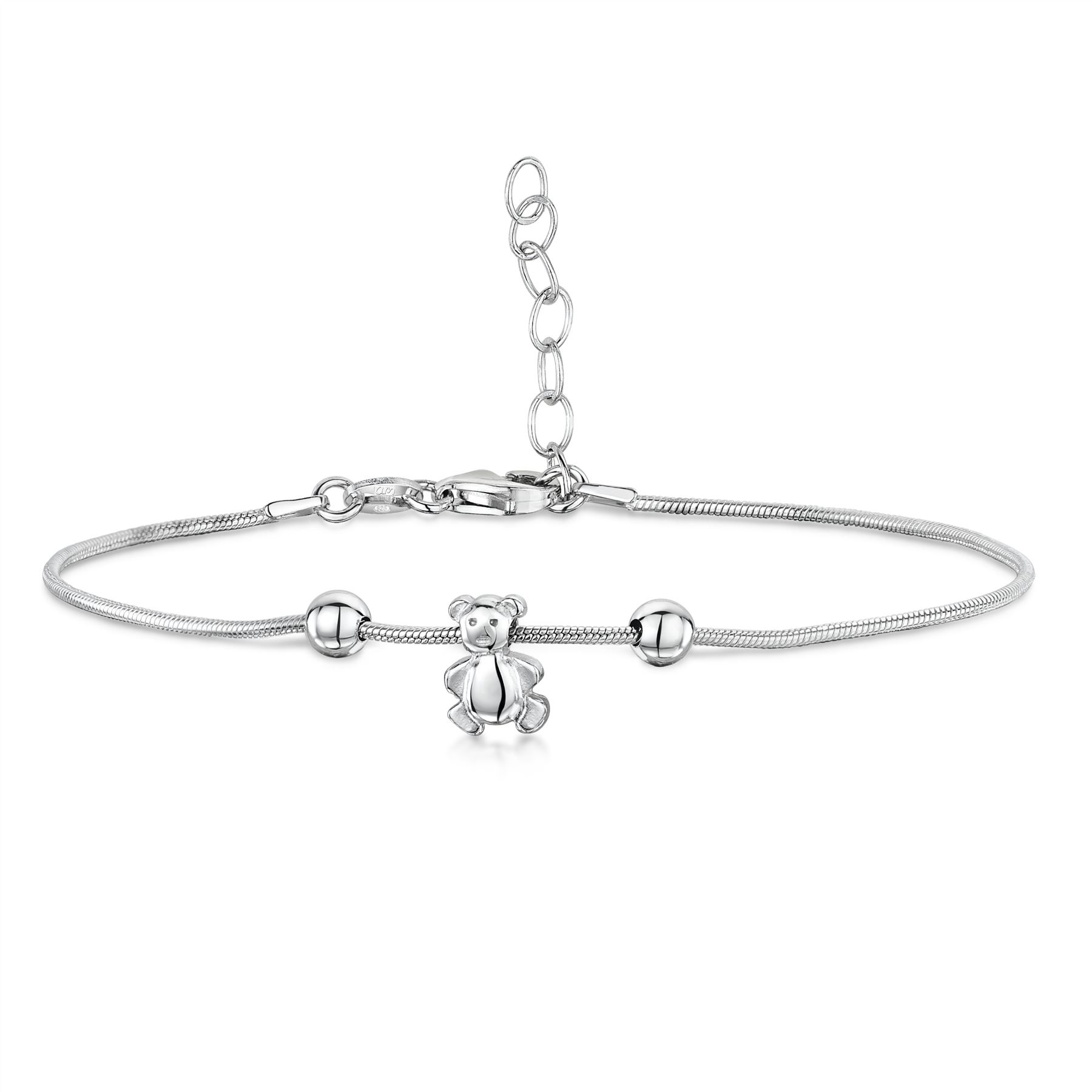 Amberta-Jewelry-925-Sterling-Silver-Adjustable-Anklet-for-Women-Made-in-Italy miniature 12