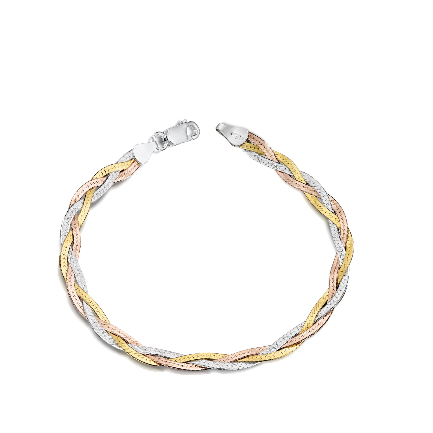 Amberta-Jewelry-Genuine-925-Sterling-Silver-Bracelet-Bangle-Chain-Made-in-Italy thumbnail 104