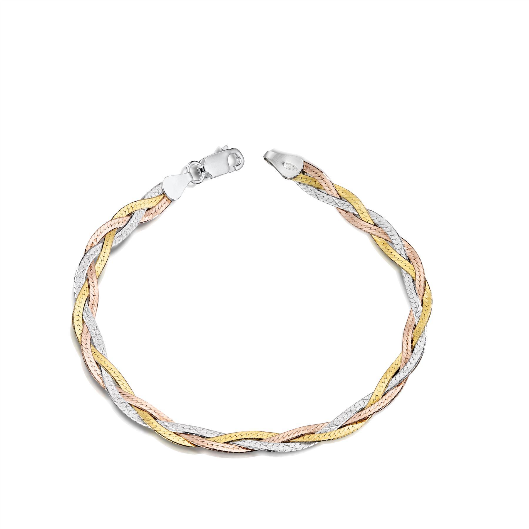 Amberta-Bijoux-Bracelet-en-Vrai-Argent-Sterling-925-Chaine-pour-Femme-a-la-Mode thumbnail 105