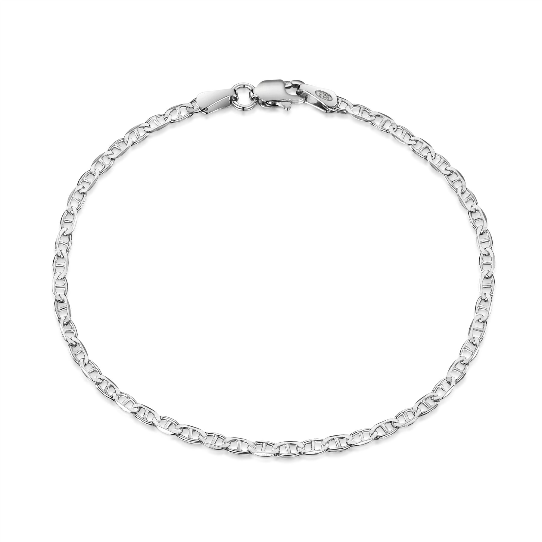 Amberta-Jewelry-Genuine-925-Sterling-Silver-Bracelet-Bangle-Chain-Made-in-Italy thumbnail 32