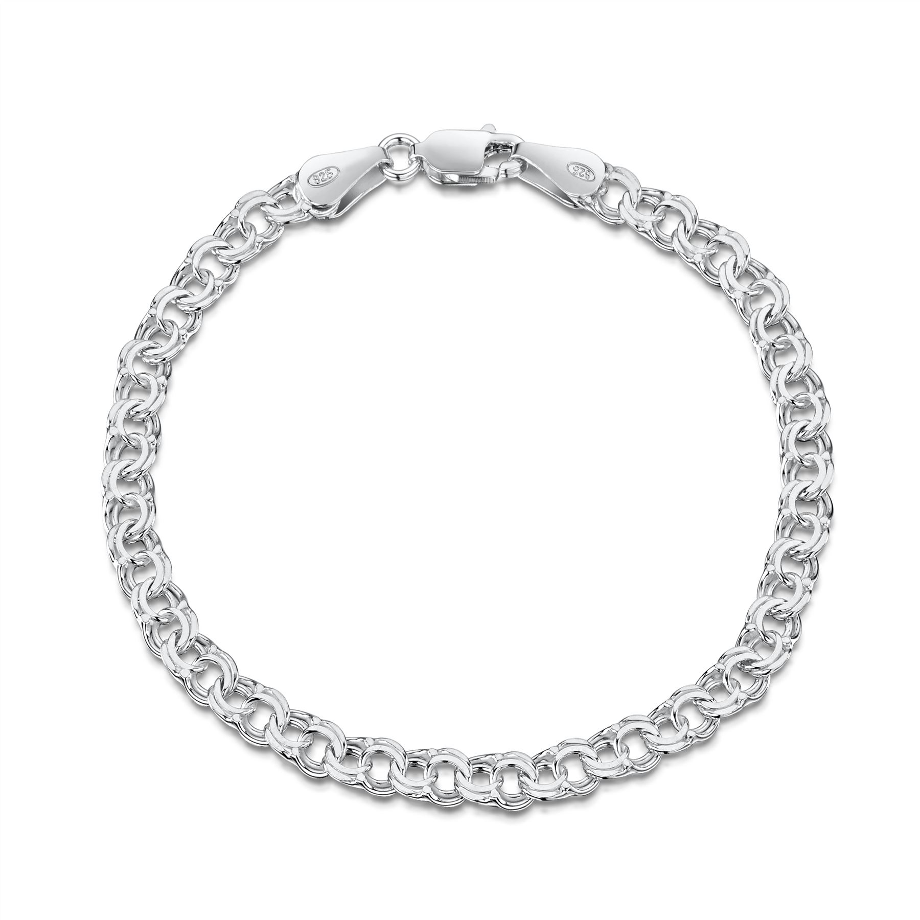 Amberta-Jewelry-Genuine-925-Sterling-Silver-Bracelet-Bangle-Chain-Made-in-Italy thumbnail 92