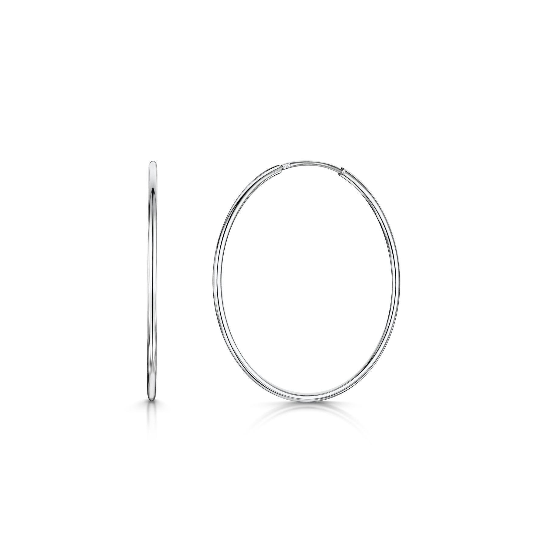 Amberta-Pendientes-para-Mujer-Aros-en-Plata-De-Ley-925-Autentica-Estilo-Clasico miniatura 34