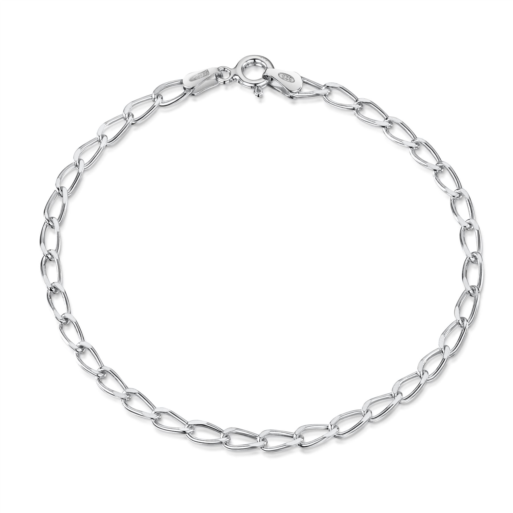 Amberta-Jewelry-Genuine-925-Sterling-Silver-Bracelet-Bangle-Chain-Made-in-Italy thumbnail 72
