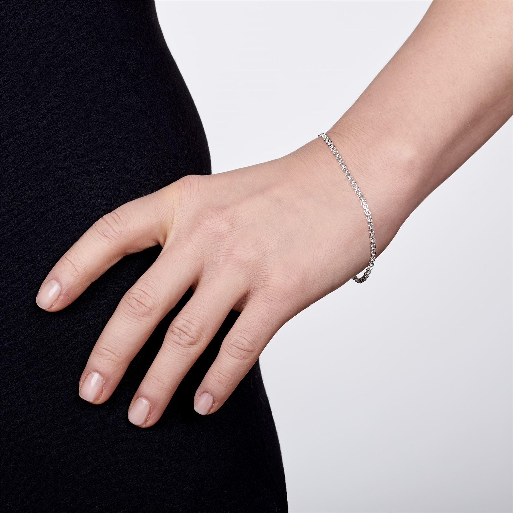 Amberta-Bijoux-Bracelet-en-Vrai-Argent-Sterling-925-Chaine-pour-Femme-a-la-Mode thumbnail 60
